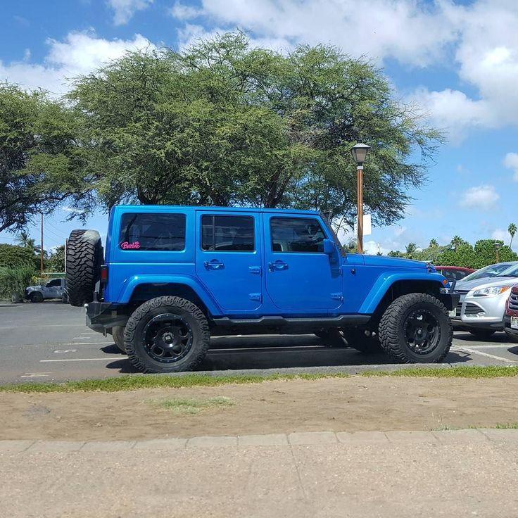 Nice Jeep!  #protecautocare #engineflush #jeep #wrangler #suv #american #sport #utility #vehicle #custom #customized #tinted #black #rims #big #tires #blue #lifted #nofilter #followus