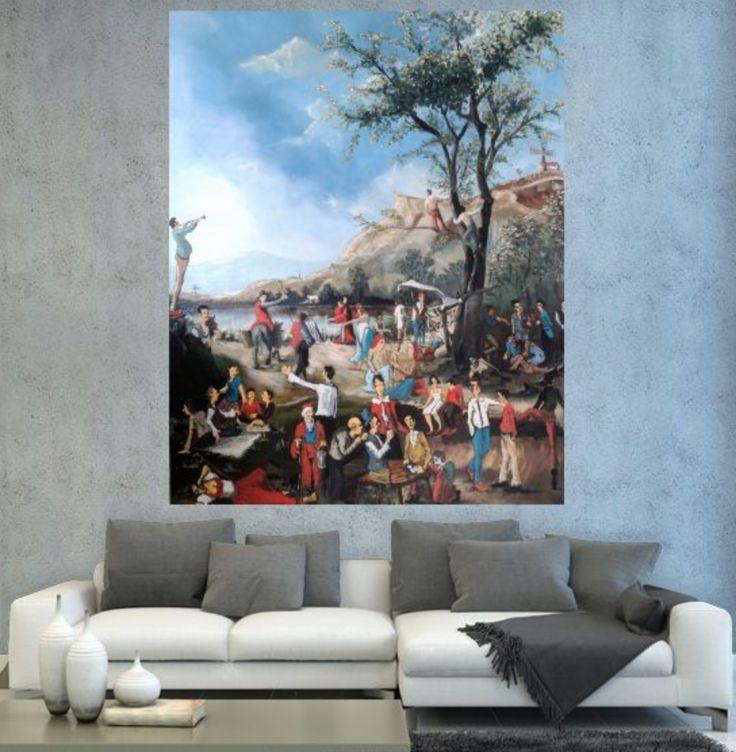 Çingene Göçü / Gypsy Migration by Nadir Baylan | #painting #oilpainting #artwork #arte #sanat #homedecor #icmimari #tasarim #elyapimi #handmade #contemporaryart #artgallery #dekorasyon #salon