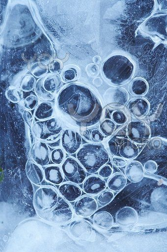 frozen bubbles under ice #abstract #photography #nature
