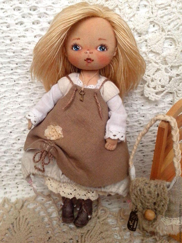Купить Стефания, текстильная кукла - бохо стиль, текстильная кукла, подарок девушке
