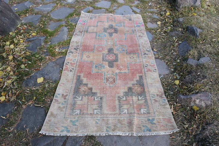 Excited to share the latest addition to my #etsy shop: Stair Rugs Turkish Vintage Rugs Original Rugs Runner Pink Color Free Shipping 4.1 x 8.6 ft Hallway Rugs Decorative Design Rug Boho Rug H-567 http://etsy.me/2mRUkgg #housewares #red #rectangle #pink #runner #wool #vintagerugs