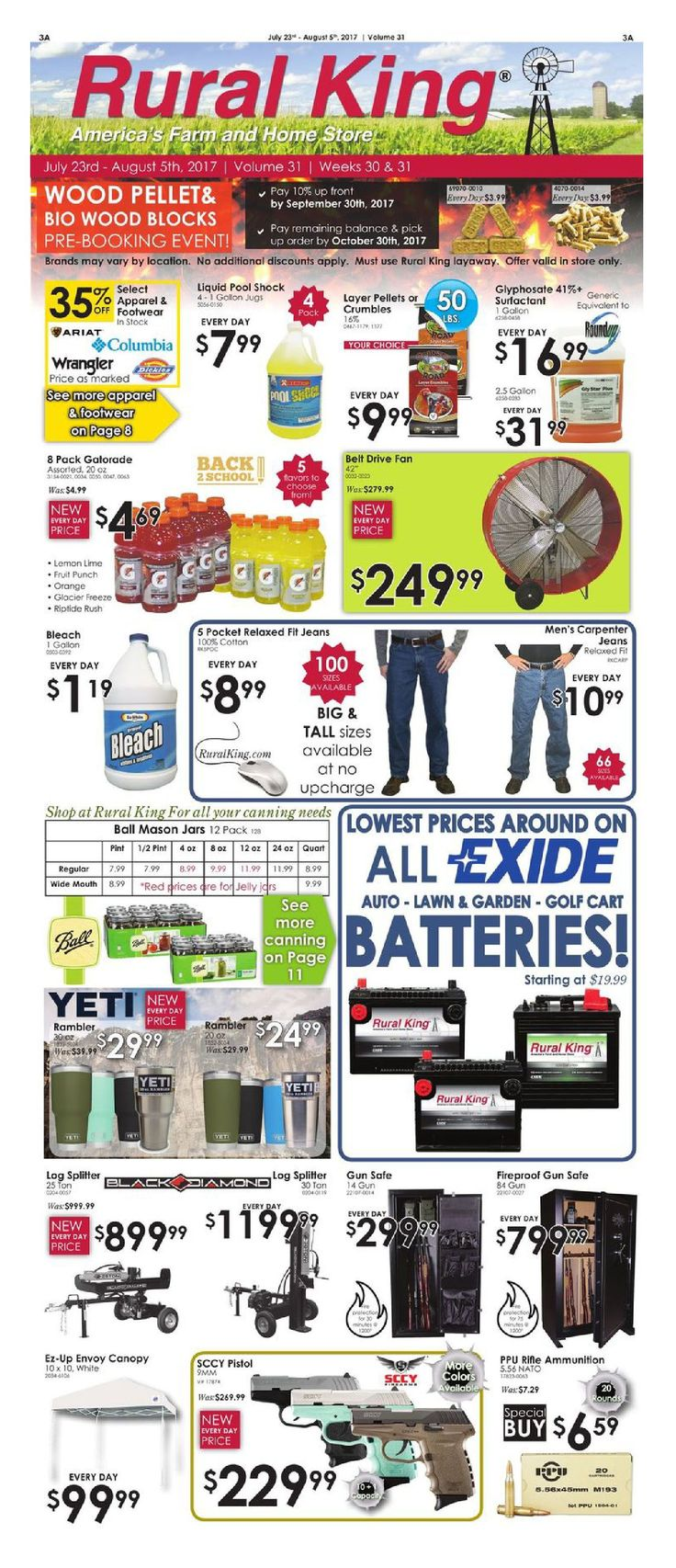 Rural King Weekly Ad July 23 - August 5, 2017 - http://www.olcatalog.com/rural-king/rural-king-ad.html