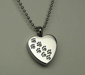Urn Jewelry | ... Pet Cremation Urn Necklace Heart Urn Paw Cremation Jewelry | eBay Love this!!