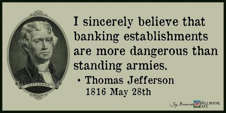 Thomas Jefferson #banks #1percent