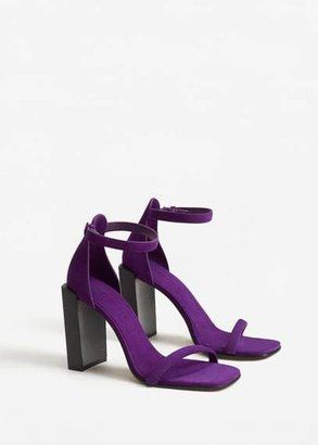 MANGO Ankle-cuff leather sandals - $79.99