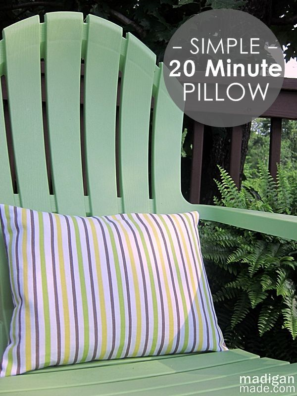 How to sew a simple envelope pillow in 20 minutes. Easy step-by-step instructions.