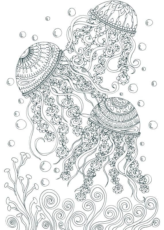 Coloring pages for adults. Digital coloring pages. Sea Ocean | Etsy