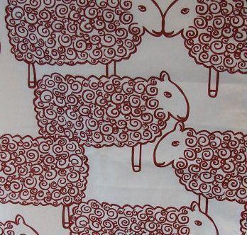 Red Sheep pillow case, Finland Nanso cotton fabric…