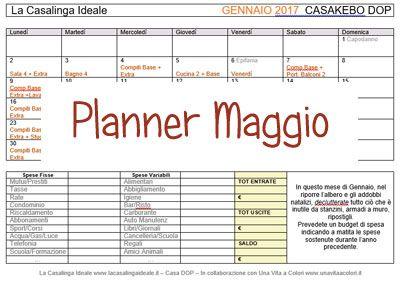 Qui troverete il Planner Casa Dop Maggio 2017, oltre dei validi consigli per rinfrescare materassi e tappeti prima della stagione estiva