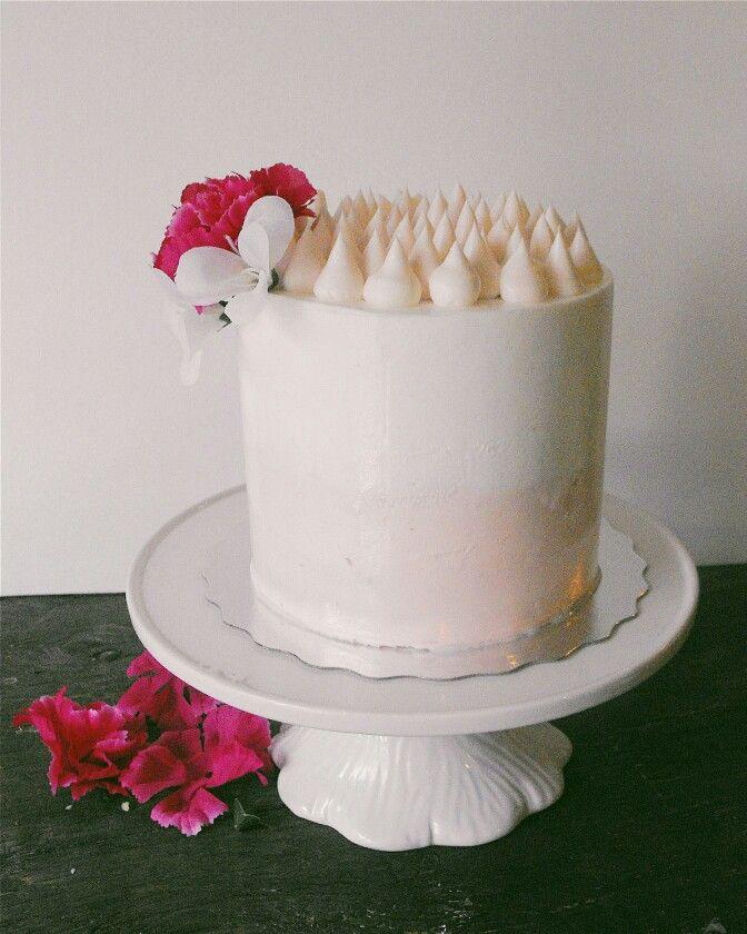 Cake. Dessert. Buttercream. Pink. Lemon filling. Cake decorating. Birthday cake. Birch+Baker