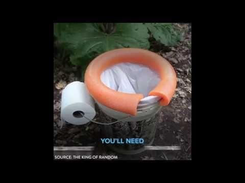Походный туалет карпятника: проще простого!) - YouTube