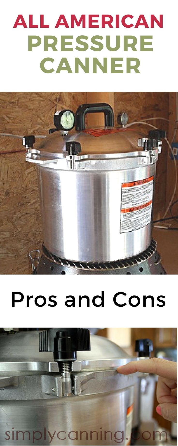 I own both the All American and Presto Pressure Canner, both are good canners. However if I had to only have one.... http://www.simplycanning.com/all-american-pressure-canner.html