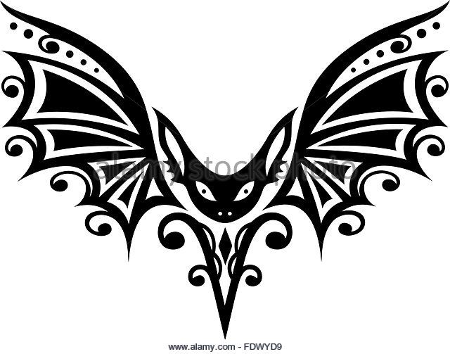 tribal-and-tattoo-bat-with-large-wings-fdwyd9.jpg (640×503)