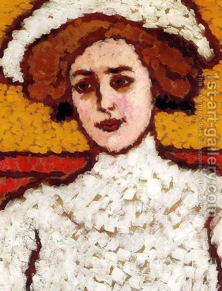Zora in a Broad-Brimmed Hat, by Jozsef Rippl-Ronai (Hungarian, 1861-1927)