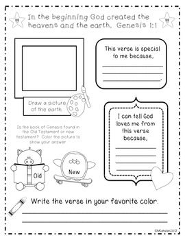 Bible study worksheets for genesis