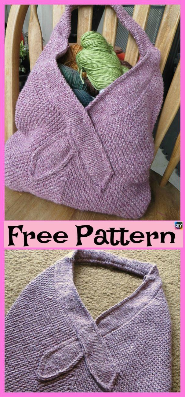 Beautiful Knit Tote Bag - Free Patterns | Crafts- Knitting | Pinterest