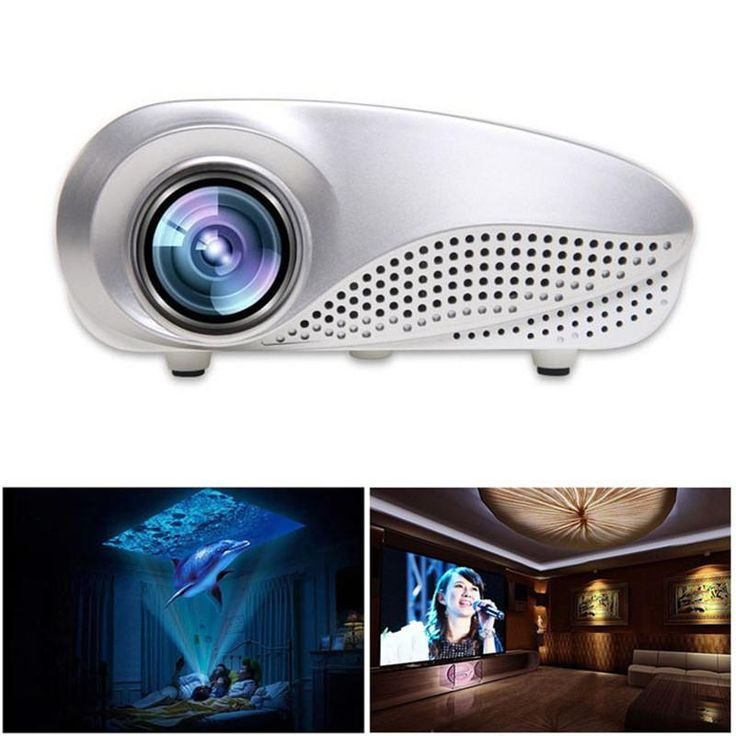 New Mini Home Multimedia Cinema LED HD Projector Support AV TV VGA USB HDMI SD 1080P #LED #Projector #Home #Cinema https://seethis.co/e3kR3K/