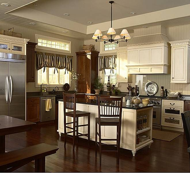 Pictures Of Kitchens With Antique White Cabinets: Antique White Colors Kitchen Cabinets