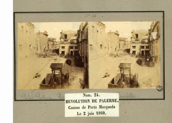 Spedizione dei Mille - Rivoluzione di Palermo - Porta Maqueda - Cannoni