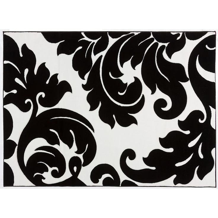 Infinity Home Melody Vines Damask Rug - 7'10'' x 9'10'', Black