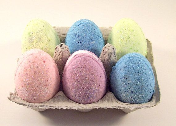 Easter Egg Bath Bomb For Kids, Gift Set, Aromatherapy, All Natural, Toys, Easter Basket, Eco Bath, Wholesale, Set of 6 & 12, Bath Gifts