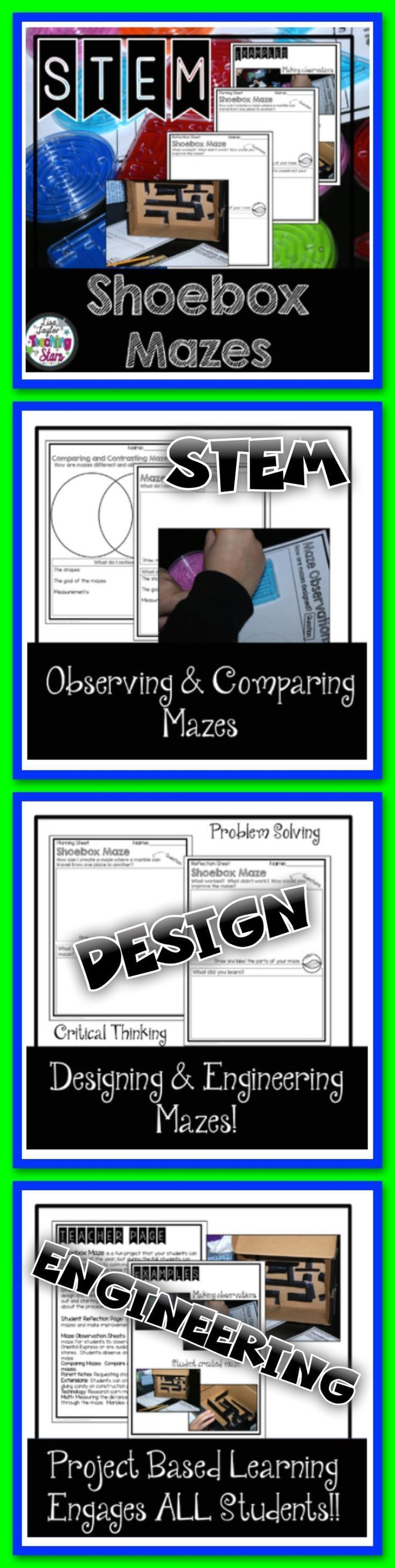 ideas about compare and contrast student stem maze challenges