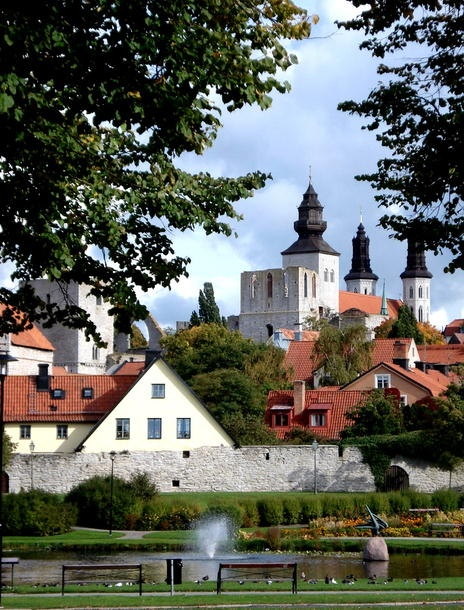 SWEDEN - Hanseatic Town of Visby. A former Viking site on the island of Gotland, Visby was the main centre of the Hanseatic League in the Baltic from the 12th to the 14th century. Its 13th-century ramparts and more than 200 warehouses and wealthy merchants' dwellings from the same period make it the best-preserved fortified commercial city in northern Europe. Heritage sine 1995.