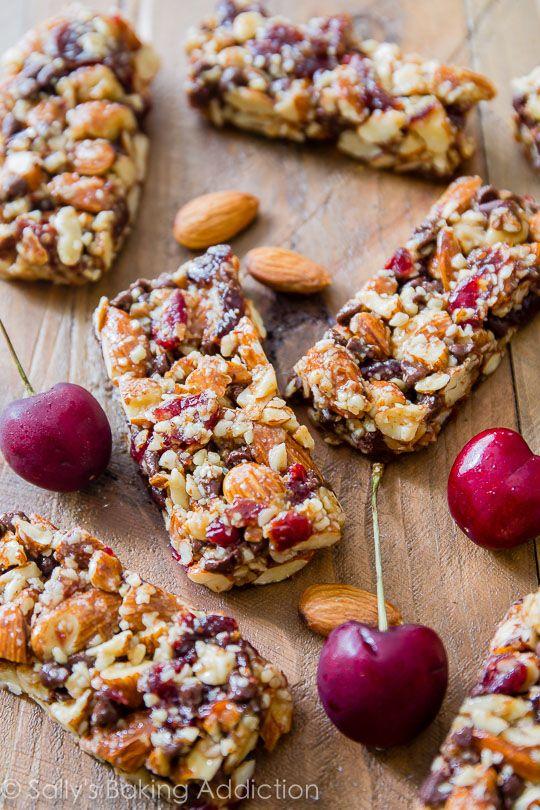 Chocolate Cherry Almond Snack Bars | Recipe | Sallys baking addiction ...