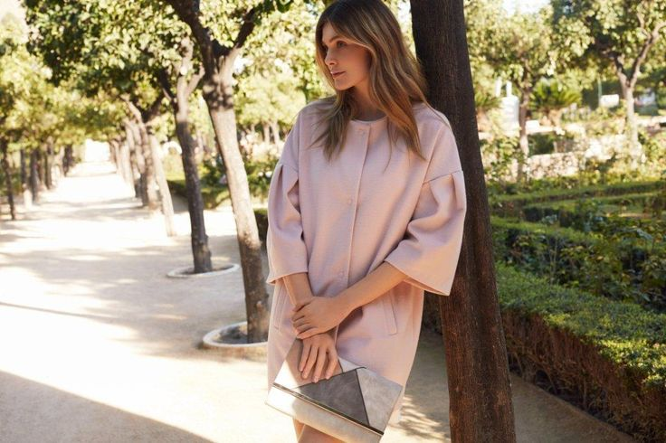 Kampania TOP SECRET wiosna 2017 spring 2017 ss17 pale pink coat romantic outfit