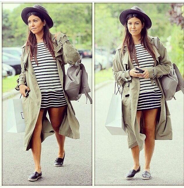 Kourtney Kardashian pregnant for the third time. 2014 Love this look