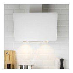 IKEA - BEJUBLAD, Dunstabzugshaube f Wandmontage, Inklusive 5 Jahre Garantie. Mehr darüber in der Garantiebroschüre.Die Dunstabzugshaube ist abgeschrägt, damit man Töpfe und Pfannen auf dem Herd gut im Blick und im Griff hat.Kann in Verbindung mit Ventil nach draußen, aber auch mit Kohlefilter verwendet werden.Mit 2 Energie sparenden LED-Leuchtquellen für effektive Beleuchtung der Kochzone.Die Platte aus gehärtetem Glas ist leicht sauber zu halten.Mit leicht zugänglichem…