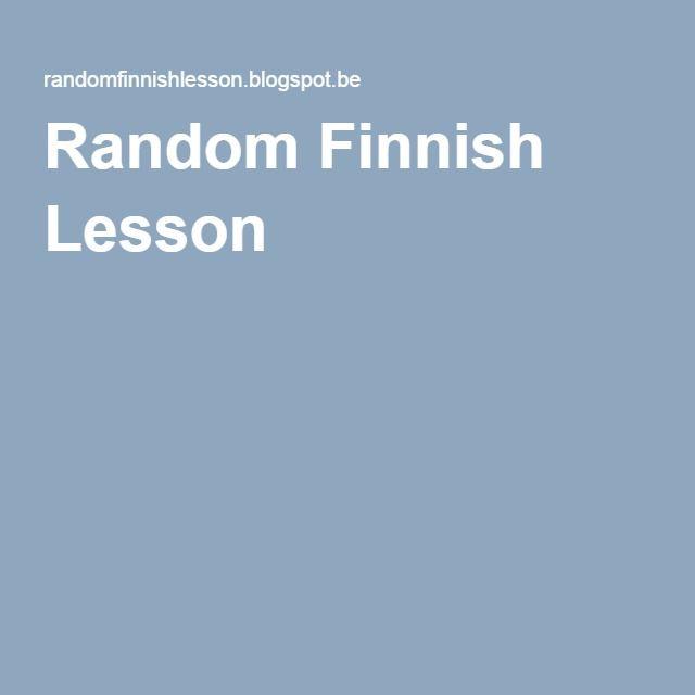 Random Finnish Lesson