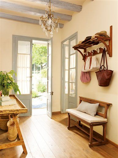 : Home, House Ideas, French Doors, Country House, Mud Room, Ideas Para, Entryway