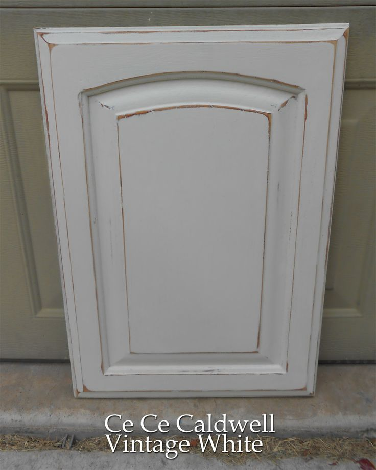 Using chalk paint for oak kitchen cabinets test door for How to paint white cabinets