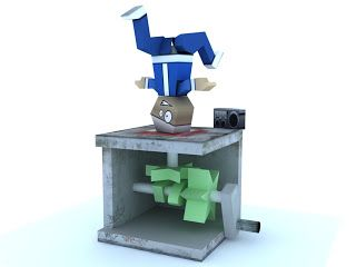 RGatt Personal Work and Tests: Paper BBoy Automaton (Street Dancer Papercraft)