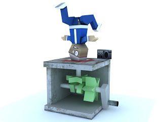 RGatt Personal Work and Tests: Paper BBoy Automaton (Street Dancer Papercraft)