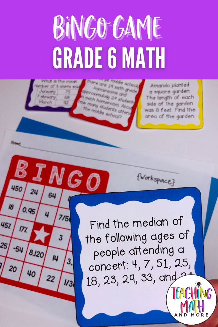 End Of Year Math Review Bingo Game 6th Grade In 2021 Math Games Middle School Math Review Math Review Game [ 1102 x 735 Pixel ]