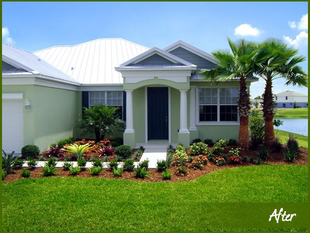 106 best front yard florida images on pinterest Florida landscape design ideas