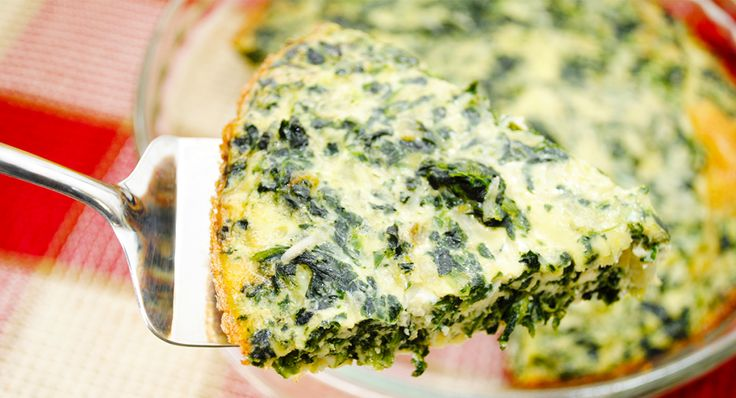 No Crust Spinach and Swiss Quiche Use mushrooms & different cheese. No nutmeg.