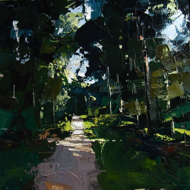 Bolderwood, the New Forest (50 x 50 cm) oil on board