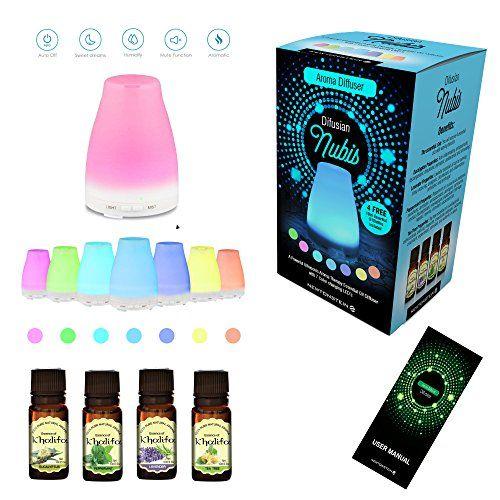 Oferta: 19.49€ Dto: -60%. Comprar Ofertas de Difusian NUBIS - Difusor ultrasónico de aceites esenciales para aromaterapia, con luces LED + 4 botellas de 10 ml de aceites barato. ¡Mira las ofertas!
