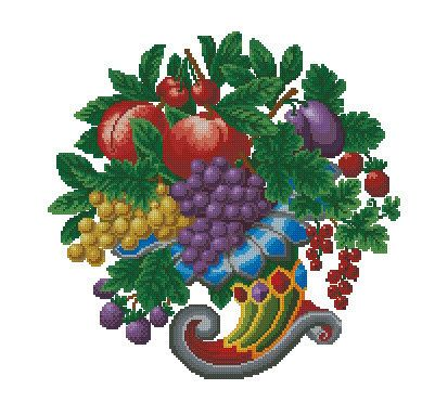 Victorian Cornucopia fruit flowers Tapestry by FancyworkDesign