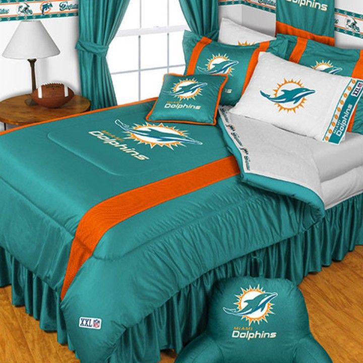 NFL  Miami Dolphins Bed Comforter Set  from medley products for $117.75 on Square Market