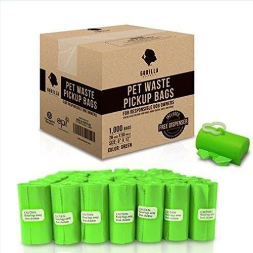 50Roll/1000Pcs Dog Pet Poop Bags Dog Biodegradable Waste Bag (Color Random)