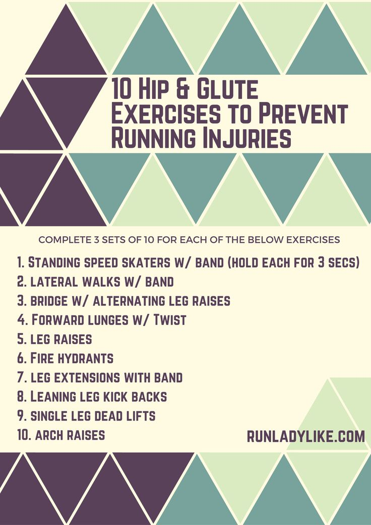The secret to running happy for life is to have a strong butt and hips. Do these 10 hip and glute exercises to prevent running injuries.