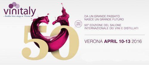 La 50ª edizione del Vinitaly si tiene a Verona dal 10 al 13 aprile 2016