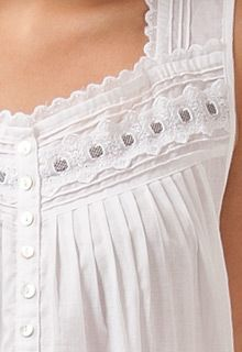Plus Eileen West cotton nightgown white