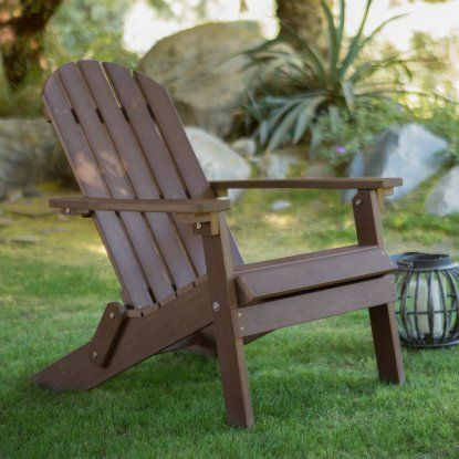 Belham Living All Weather Resin Wood Adirondack Chair - Chocolate Brown - Adirondack Chairs at Hayneedle