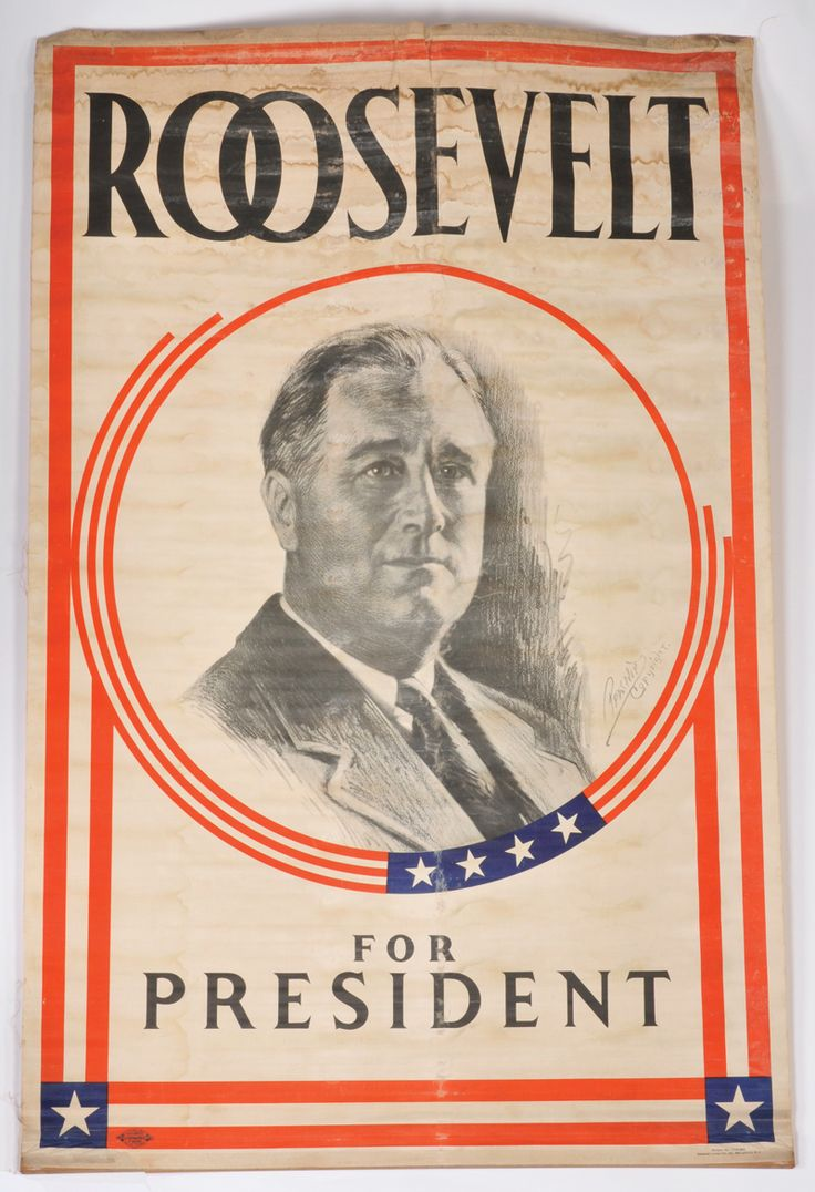 "franklin roosevelt 1932 election campaign | Lot Detail - 1930s ""Roosevelt for President"" FDR Campaign Banner"