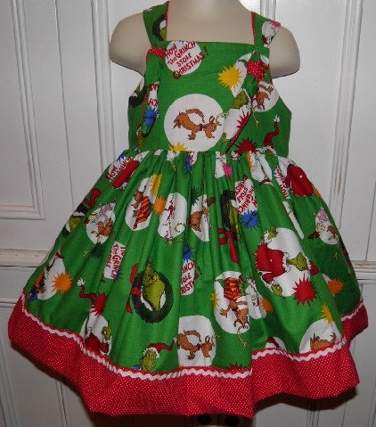 Grinch Stole Christmas Boutique Dress Size 2t By Threegenjewelry